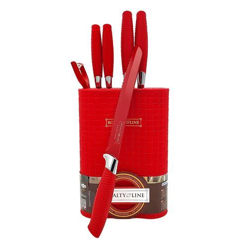 KIT Coltelli rosso Royaltyline 6pz